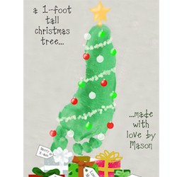 Footprint Christmas Tree - Kids Crafts