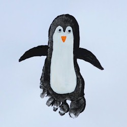 Footprint Penguin - Kids Crafts