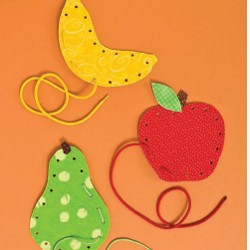 Fruit Lace Ups - Kids Crafts