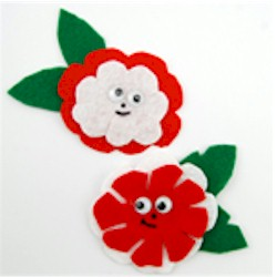 Fun Flower Pins - Kids Crafts