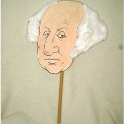 George Washington Puppet - Kids Crafts