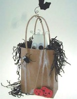 Ghostly Halloween Bag - Kids Crafts