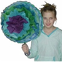 Giant Tissue Paper Flowers - Kids Crafts