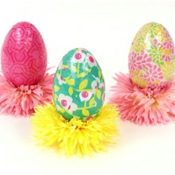 Gift Wrap Eggs - Kids Crafts