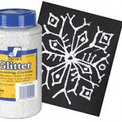 Glitter Snowflakes Craft