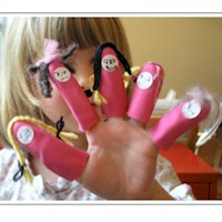 Rubber Glove Finger Puppets - Kids Crafts