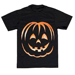Grinning Pumpkin Tee Shirt - Kids Crafts