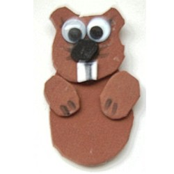 Groundhog Puppet - Kids Crafts