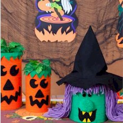 Halloween Cannisters - Kids Crafts