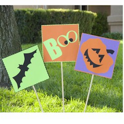 Halloween Yard Stakes - Kids Crafts