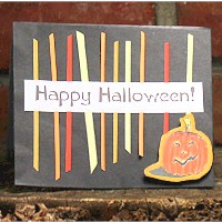 Scrap Strip Halloween Card - Kids Crafts