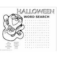 Halloween Word Puzzles Craft