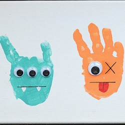 Handprint Aliens Craft