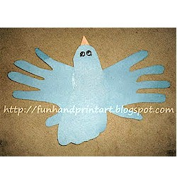Hand and Footprint Bluebird - Kids Crafts