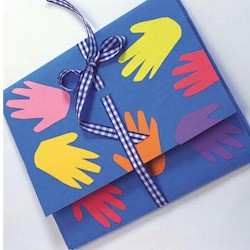 Handprint Portfolio - Kids Crafts
