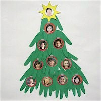 Handprint Christmas Tree - Kids Crafts