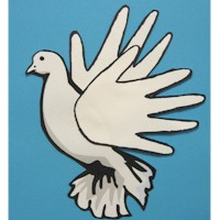 Handprint Dove - Kids Crafts
