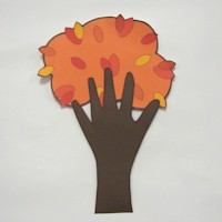 Handprint Autumn Tree - Kids Crafts