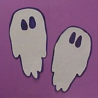 Handprint Ghosts - Kids Crafts