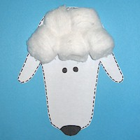 Handprint Lamb - Kids Crafts