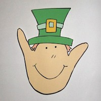 Handprint Leprechaun - Kids Crafts