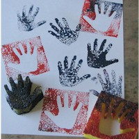 Handprint Sponge Craft - Kids Crafts