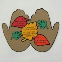 Handprint Thanksgiving Poem - Kids Crafts