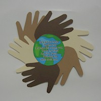 World Neighbors Handprint Poem - Kids Crafts