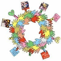 Handprint Wreath  Of Thankfulness - Kids Crafts