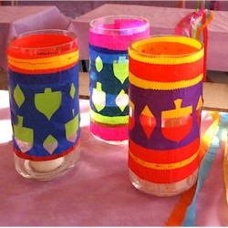 Hanukkah Tissue Paper Cut Outs - Kids Crafts