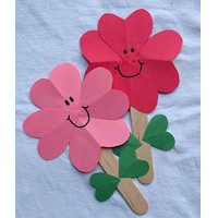 Valentine Heart Flowers - Kids Crafts