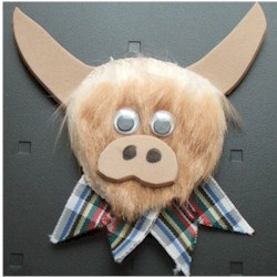 Highland Cow - Kids Crafts