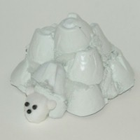 Egg Carton Igloo and Polar Bear Pal Craft