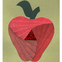 Iris Folding Apple Craft
