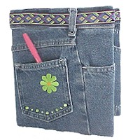 Jeans Book Cover - Kids Crafts