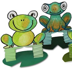 Jumping Frogs - Kids Crafts