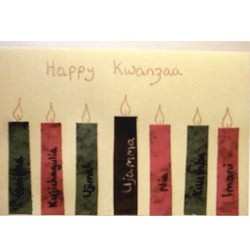 Happy Kwanzaa Card - Kids Crafts