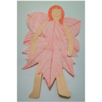 Leaf Rubbing Fairy Craft