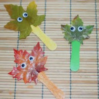 Leaf Stick Kids Craft Craft