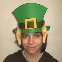 Leprechaun Hat with Pointed Ears - Kids Crafts