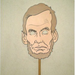 Abraham Lincoln Puppet Mask Craft