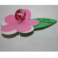 Lollypop Valentine Flower Craft