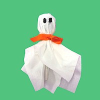 Lollipop Ghost - Kids Crafts