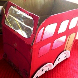 Recycled London Bus - Kids Crafts