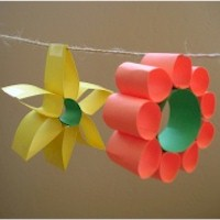 Paper Loop Flowers Craft