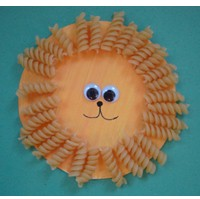 Macaroni Paper Plate Lion - Kids Crafts