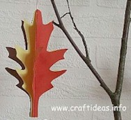 3-D Paper Leaf - Kids Crafts