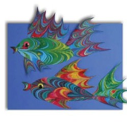 Marbelized Fish - Kids Crafts