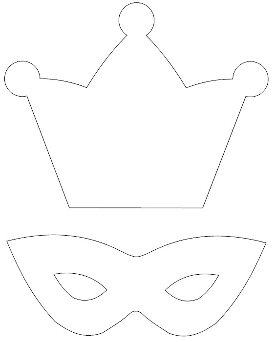 Free coloring pages of crowns to cut