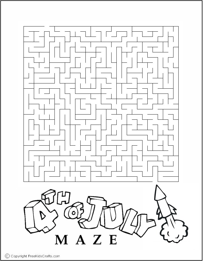 4th Of July Maze Connect The Dots Pinterest